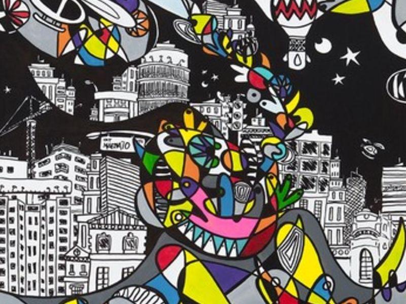 "Arte chileno - ""Santiago Centro"" - Matte Macarena | ARTEX"