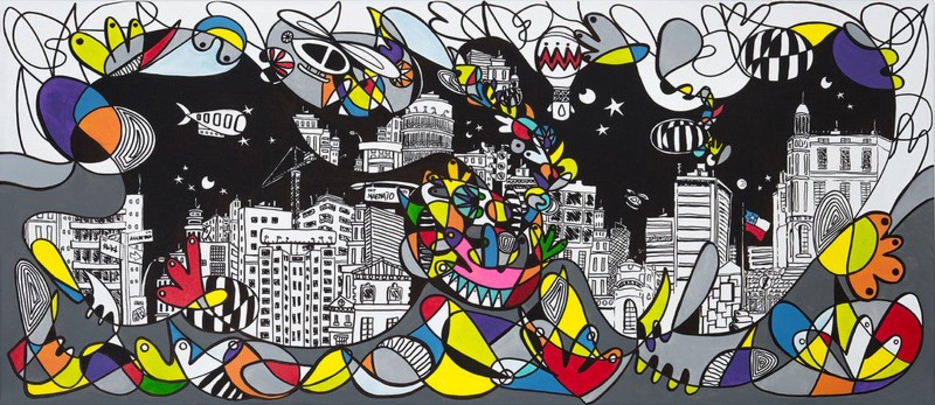 "Arte chileno - ""Santiago Centro"" | Matte Macarena"