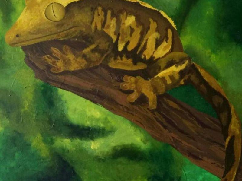Mara Ortiz / Gecko crestado en rama