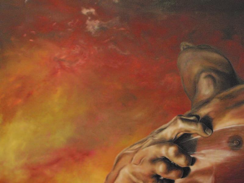 Arte chileno / Quema en el dolor