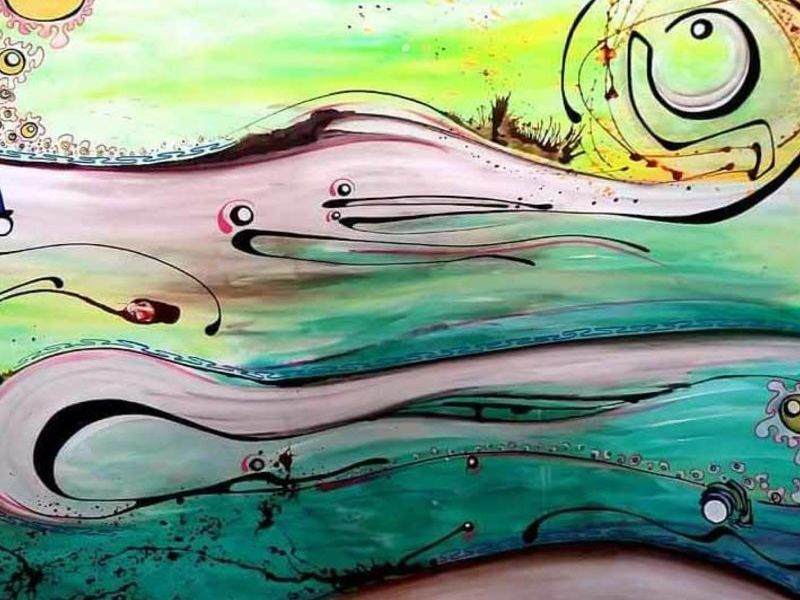 Arte chileno / Aguita caribe