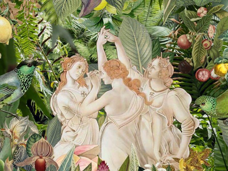 Arte Chileno - Bailarinas en la selva