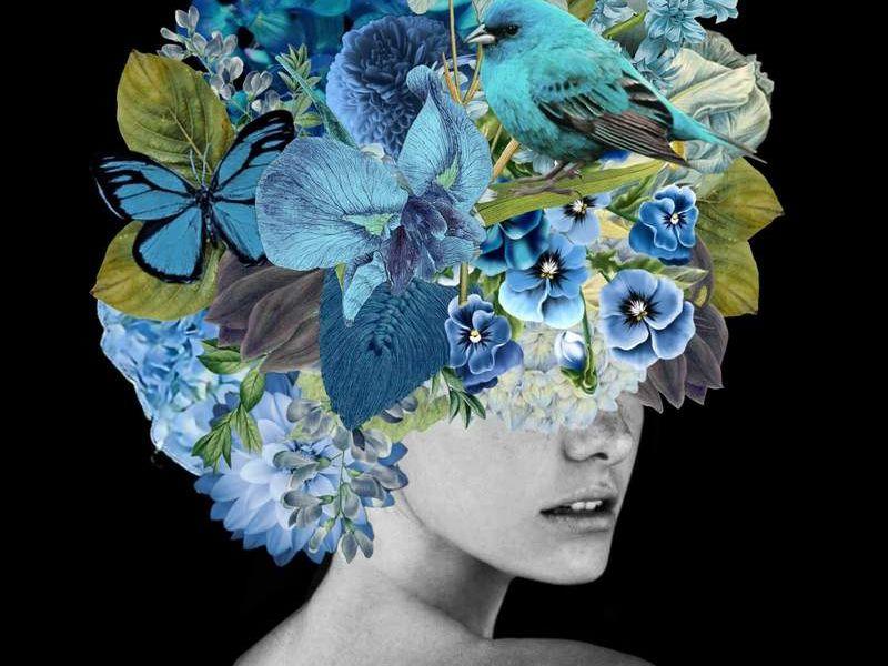 Arte Chileno - mascara azul