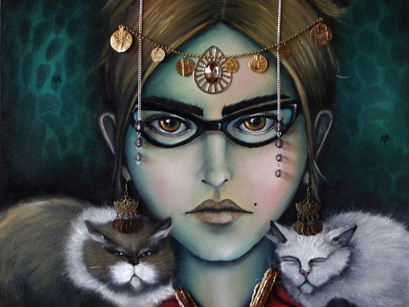 Diana Armas / Autoretrato con gatas