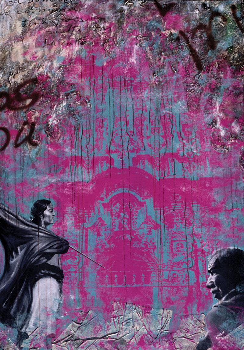 Bandera negra sobre ruido rosa  | Alvarez Enrique  Estuardo